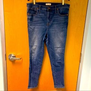MADEWELL High Rise Comfort Skinny Mid Wash Ankle Length Sz 33